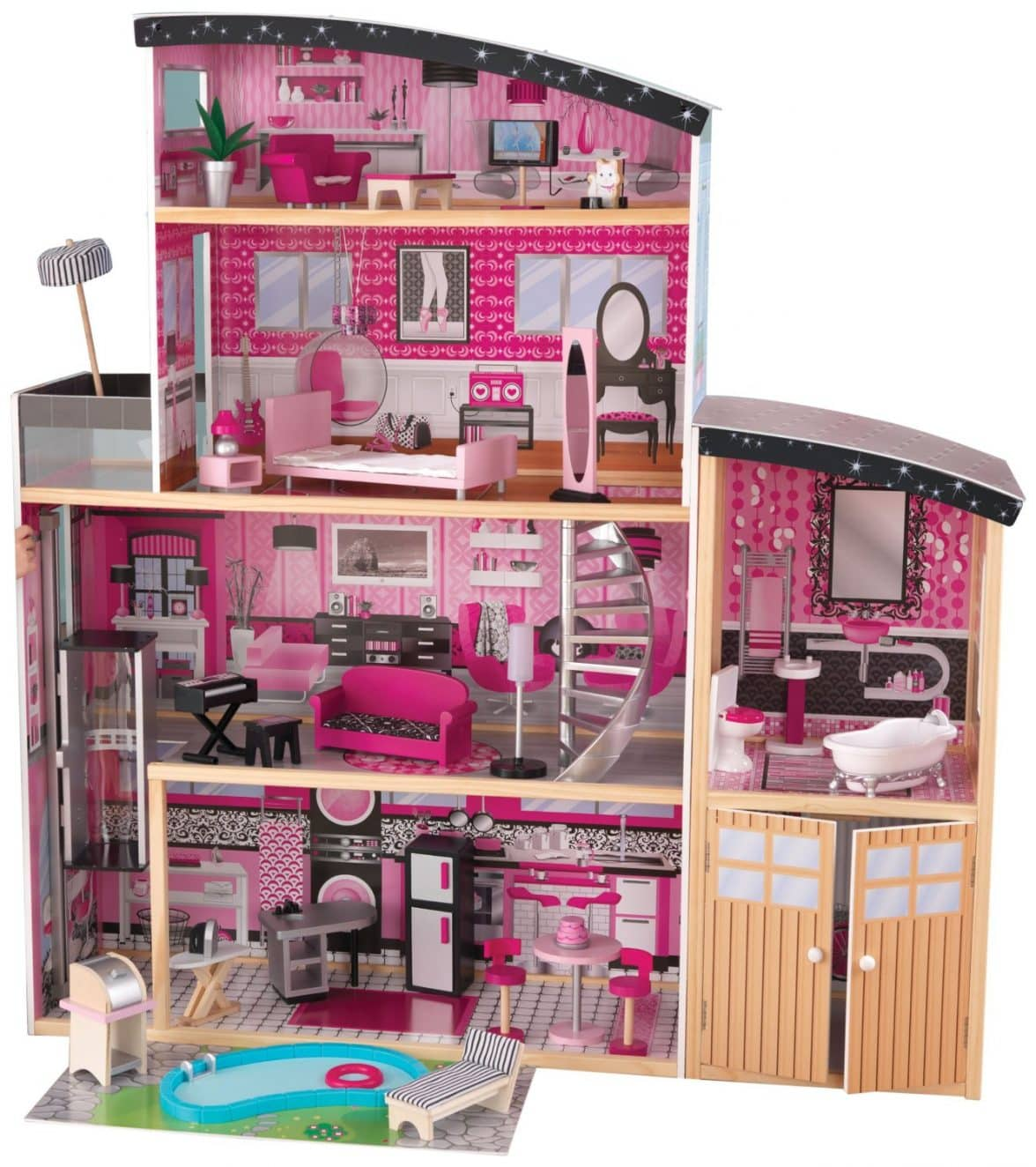 wooden barbie doll house furniture. KidKraft Chelsea Doll Cottage With Furniture. $85.13 Buy Now · Sparkle Mansion Wooden Barbie House Furniture