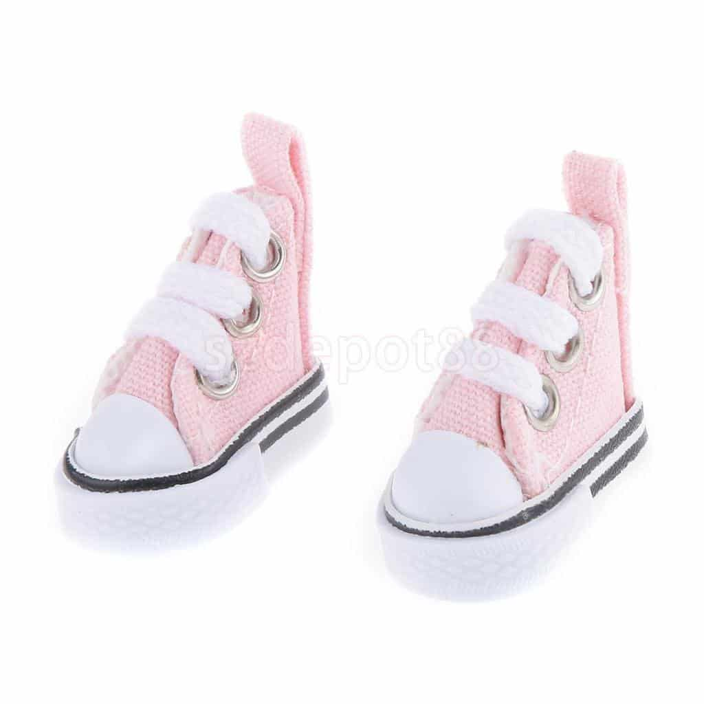 16-Pink-High-Top-Lace-up-Sneakers-Shoes-Fit-Barbie-Blythe-Pulip-Jenny-Doll