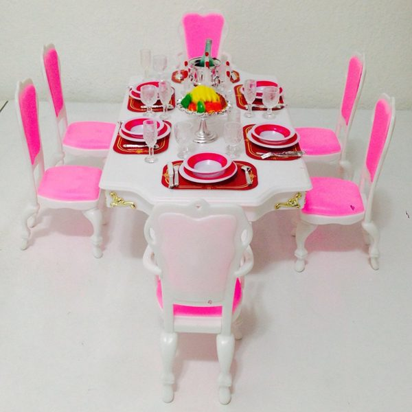 Barbie Size Dollhouse Furniture Grand Dining Room Play Set  : Barbie Size Dollhouse Furniture Grand Dining Room Play Set 1 600x600 from www.barbie-collectible.com size 600 x 600 jpeg 41kB