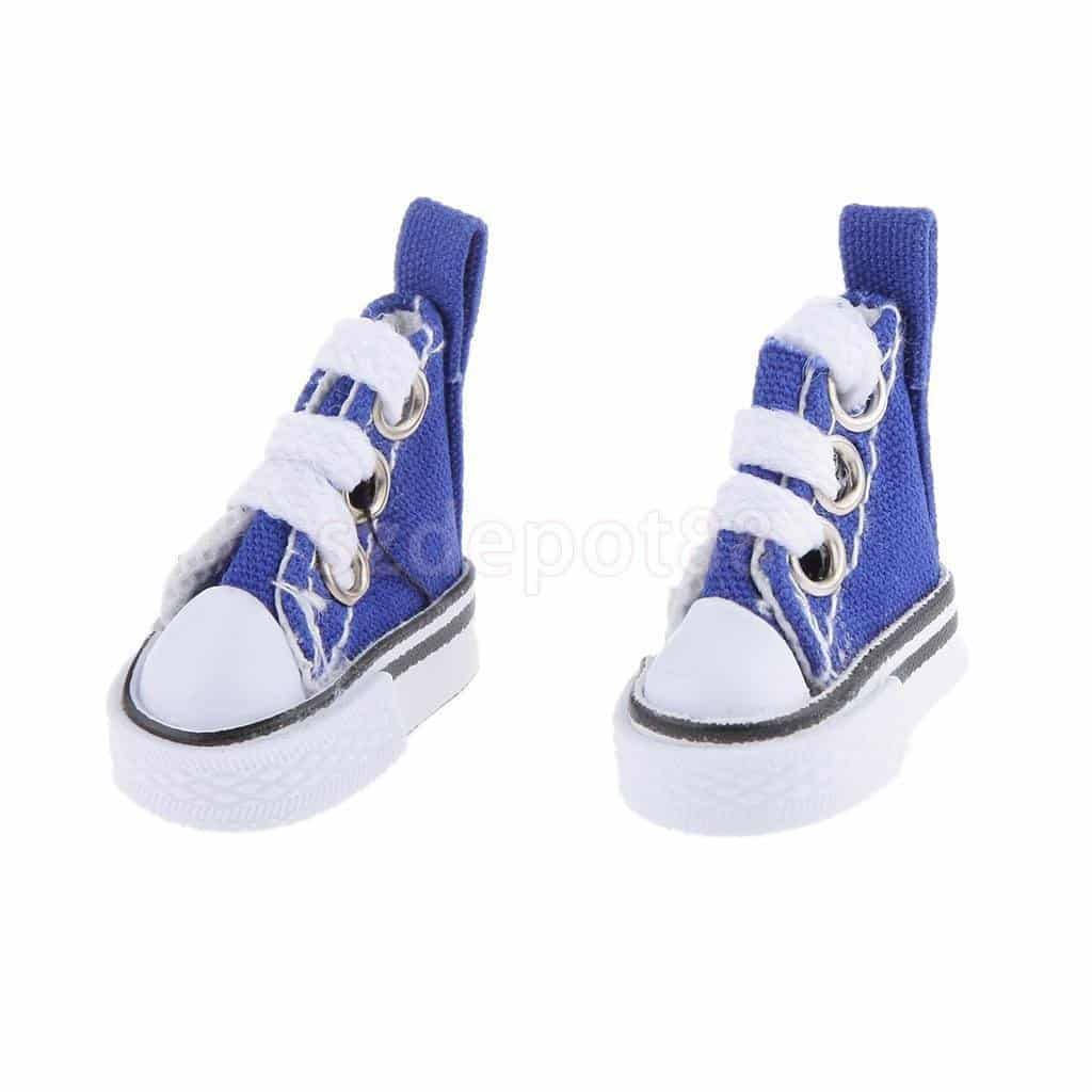 Dark Blue High Top Lace-up Sneakers Shoes Fit Barbie Blythe Pulip Jenny Doll