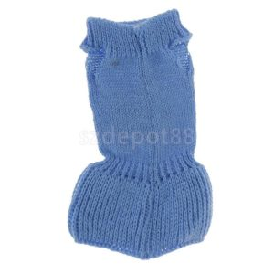 Elegant Blue Animal Knit Sleeveless Dress For 16 Barbie Dolls Accessories