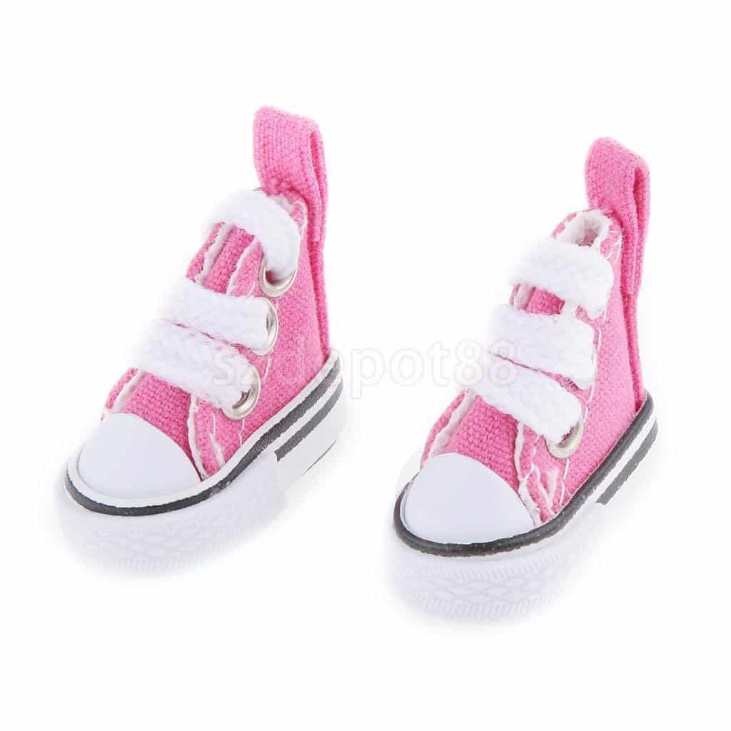 Fuchsia High Top Lace-up Sneakers Shoes Fit Barbie Blythe Pulip Jenny Dolls