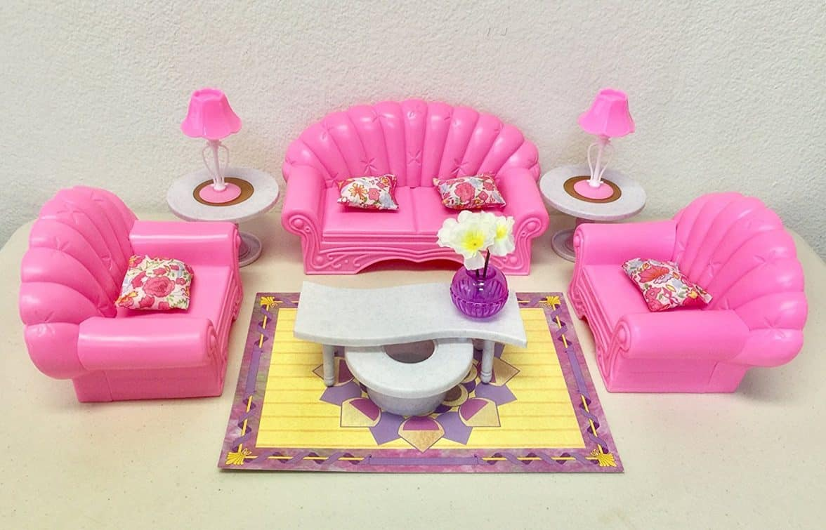 Gloria Barbie Size Dollhouse Furniture   Living Room Set