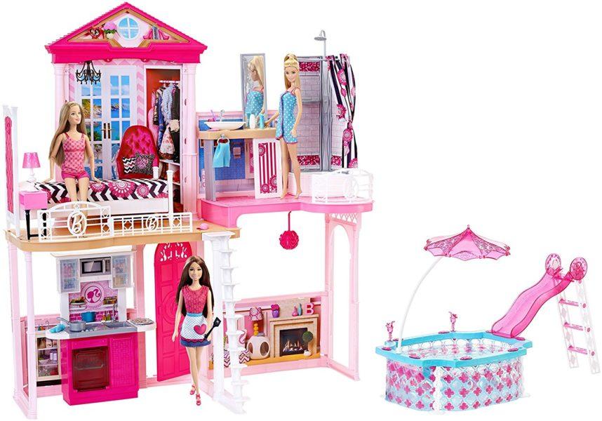 Barbie Dream House Amp Pool Gift Set With Three Dolls 31