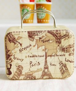16 Barbie Blythe Size Map Doll Dollhouse Miniature Toy Trunk Box Suitcase Luggage Traveling Case
