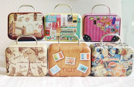 16 Barbie Blythe Size Stamps Doll Dollhouse Miniature Toy Trunk Box Suitcase Luggage Traveling Case