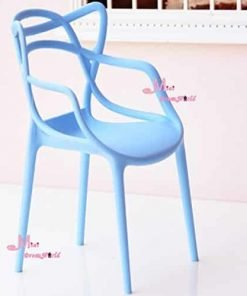 16 Scale Art Decor Plastic Chair Blue Color for barbie BJD Doll Dollhouse Miniature