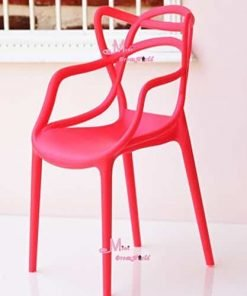 16 Scale Art Decor Plastic Chair Red Color for barbie BJD Doll Dollhouse Miniature