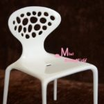 16 Scale Barbie Blythe Toy Plastic White Art Backrest Chair Dollhouse Miniature