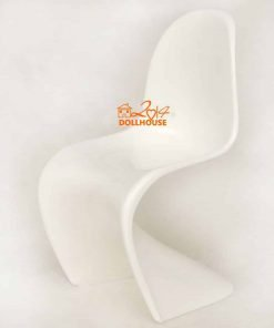 !!16 Scale Curve Plastic Panton Chair White color Dollhouse Miniature For Barbie BJD Blythe DOll