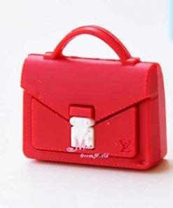 16 Scale Dollhouse Miniature Barbie Doll Lady Man Red LV Handbag Bag Toy