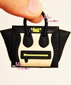 16 Scale Dollhouse Miniature Black Toy Plastic Lady Handbag Bag for Dolls for Barbie BJD Blythe