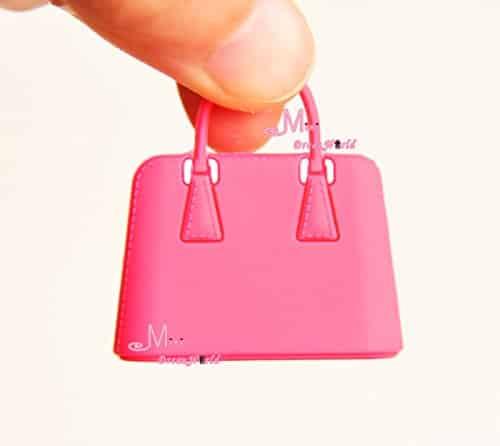 16 Scale Dollhouse Miniature Red Toy Plastic Lady Handbag Bag For Dolls Barbie Bjd Blythe