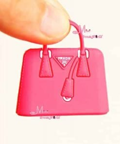 16 Scale Dollhouse Miniature RED Toy Plastic Lady Handbag Bag for Dolls for Barbie BJD Blythe