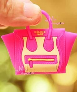 1/6 Scale Dollhouse Miniature Rose Red Toy Plastic Lady Handbag Bag for Dolls for Barbie BJD Blythe