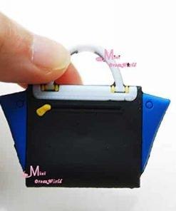 16-Scale-Dollhouse-Miniature-White-Blue-Colorful-Toy-Plastic-Lady-Handbag-Bag-for-Dolls-for-Barbie-BJD-Blythe