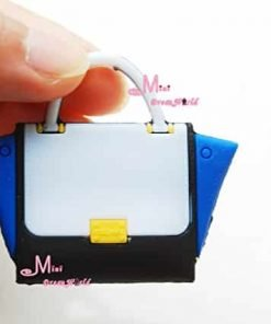 16-Scale-Dollhouse-Miniature-White-Blue-Colorful-Toy-Plastic-Lady-Handbag-Bag-for-Dolls-for-Barbie-BJD-Blythe