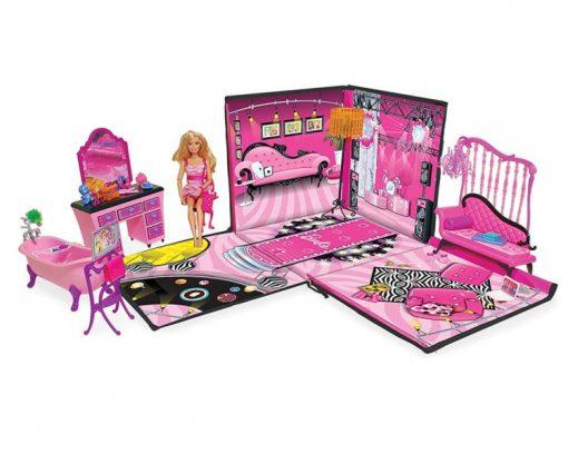 Barbie ZipBin 40 Doll Dream House Toy Box & Playmat