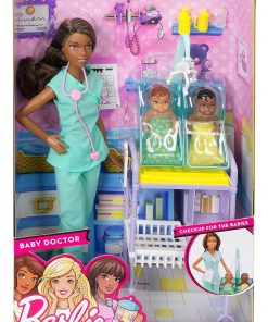 Barbie-Careers-African-American-Baby-Doctor-Doll-Playset