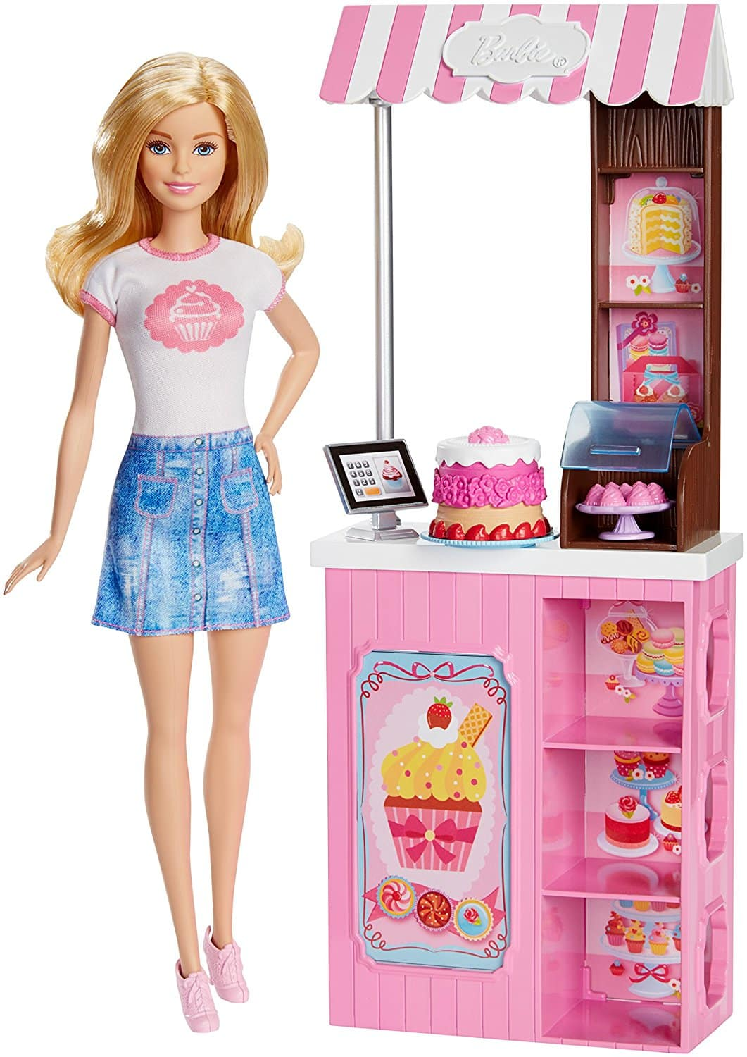 Barbie Careers Bakery Shop Playset With Blonde Doll Barbie Collectibles