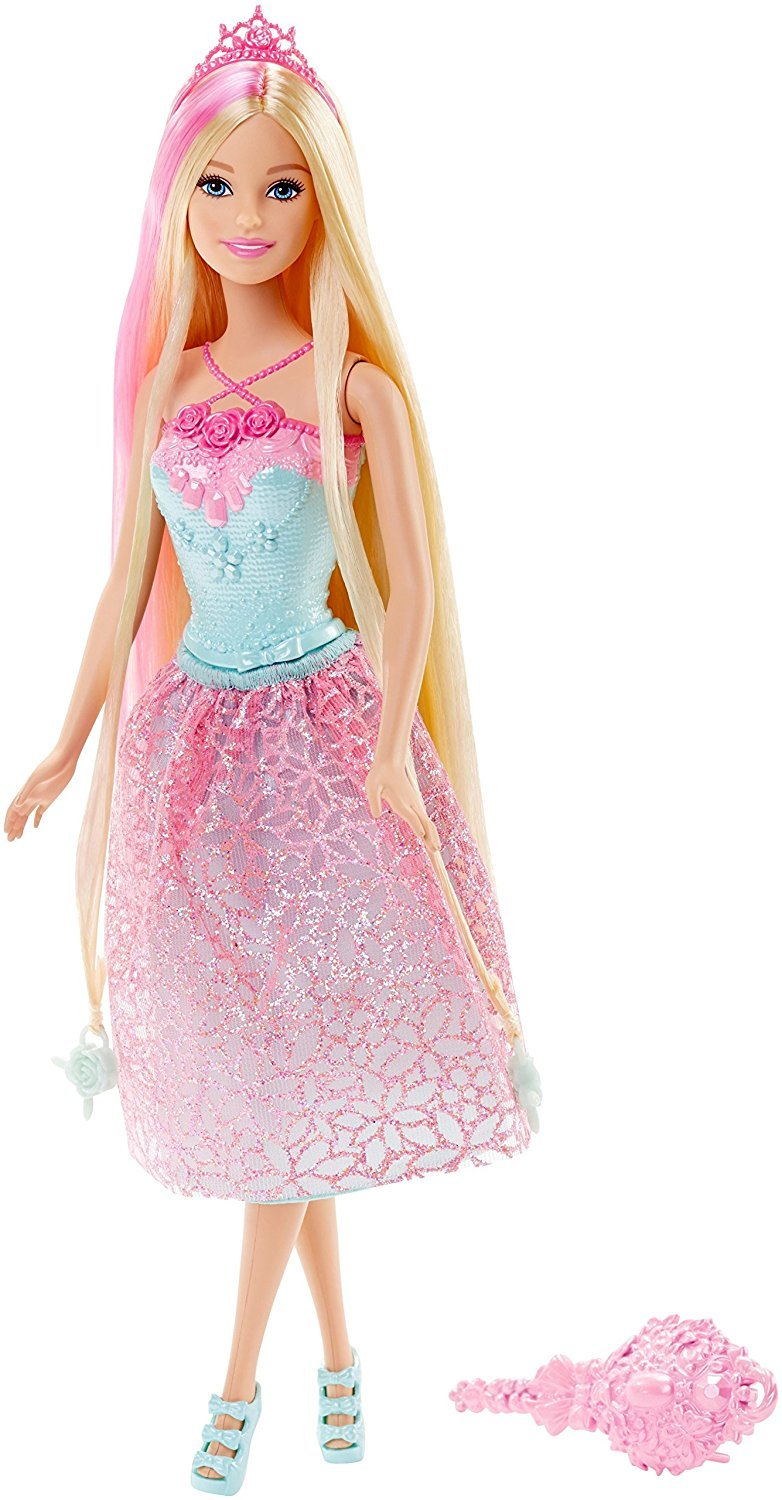 Barbie Endless Hair Kingdom Princess Doll, Pink - Barbie ...