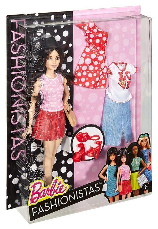 Barbie Fashionistas Doll & Fashions Pizza Pizzazz, Petite Dark-Haired