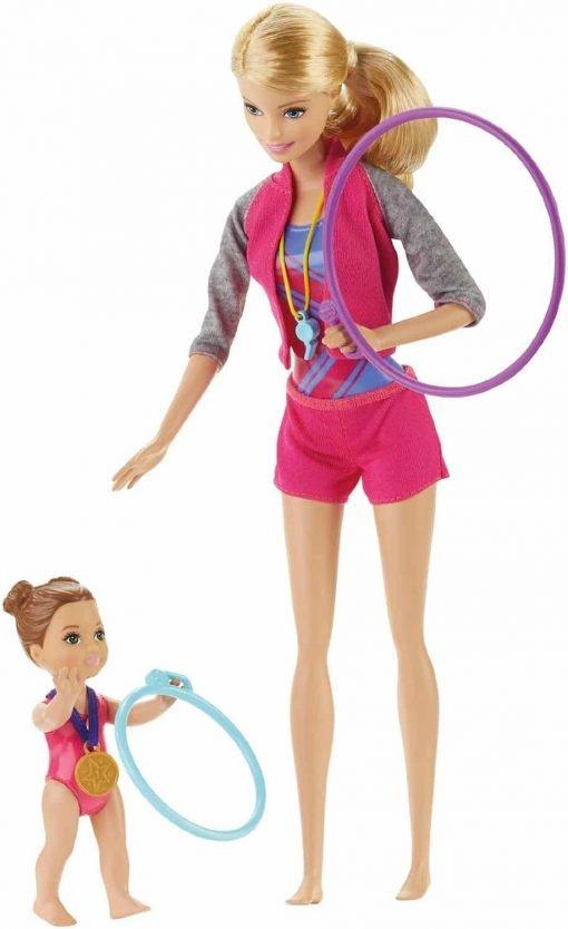 Barbie Gymnastic Coach Dolls & Playset