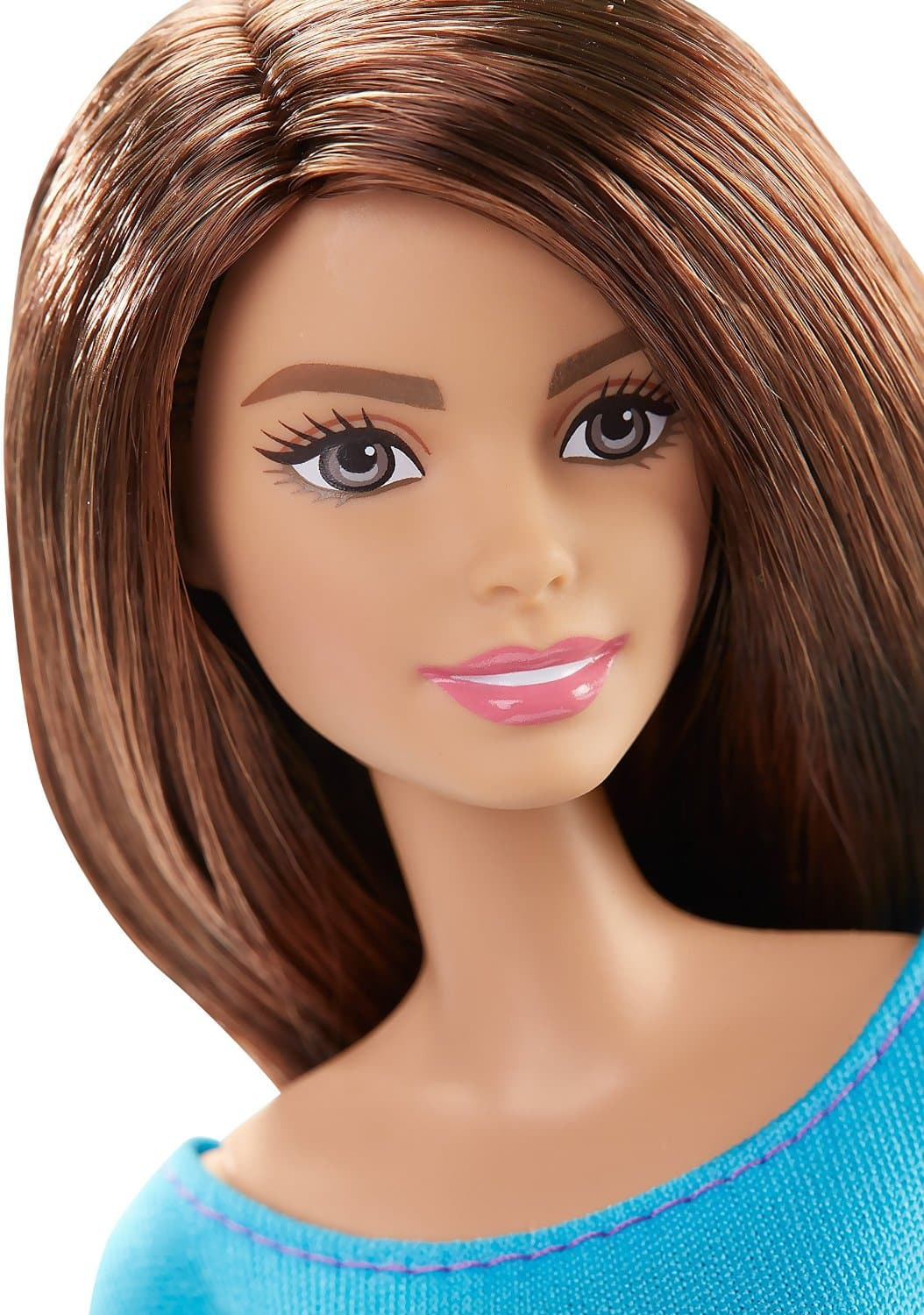 barbie made to move barbie doll  blue top