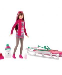 Barbie-Sisters-Sledding-Fun