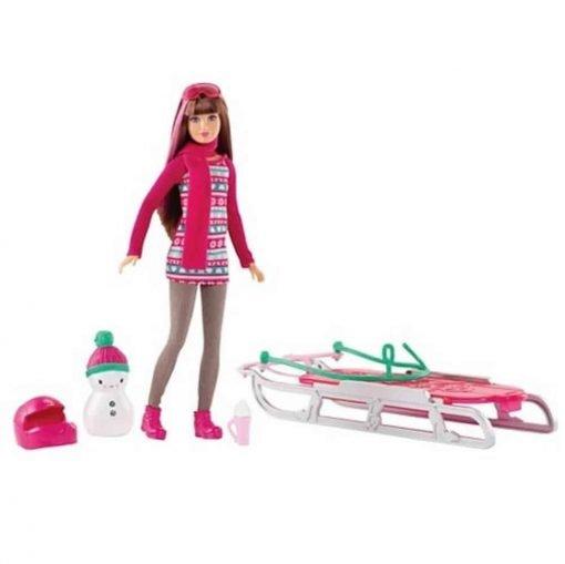 Barbie-Sisters-Sledding-Fun