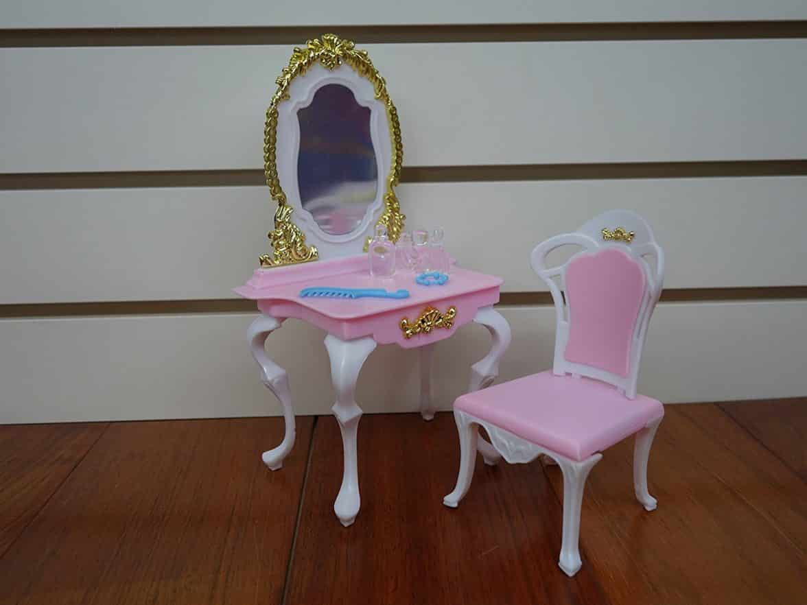 Barbie Size Dollhouse Furniture Bed Room Beauty Play Set