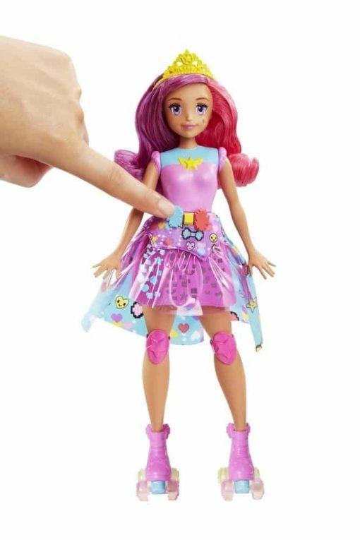 Barbie Video Game Hero Match Game Princess Doll, Pink