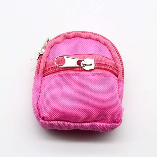 Doll Size Pink Nylon bagpack For Barbie Doll Backpack
