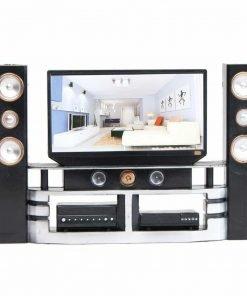 E-TING Hi-Fi TV Cabinet Set Dollhouse Furniture Accessories For Barbie Doll