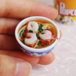 Egg noodle Bowl Food 16 scale Barbie Blythe DOLL Dollhouse Miniature
