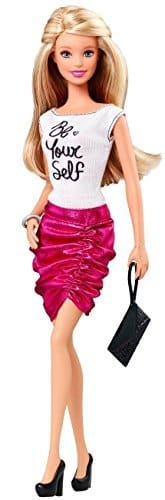 Import Barbie doll Barbie Fashionistas Barbie Doll Pink Skirt and Be Yourself Shirt