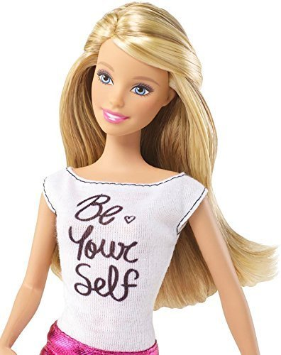 Import Barbie doll Barbie Fashionistas Barbie Doll Pink Skirt and Be Yourself Shirt (3)