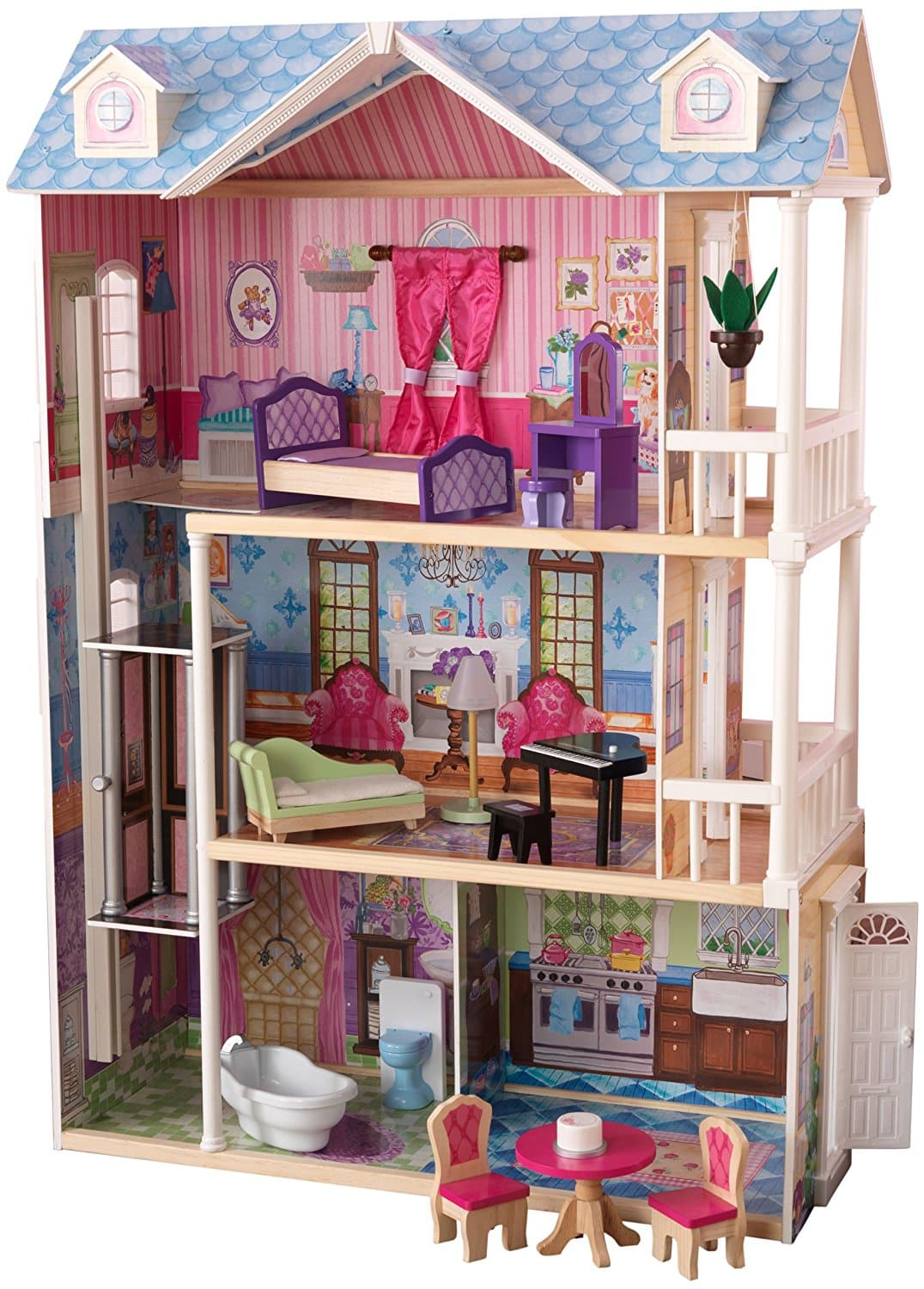 kidkraft my dreamy dollhouse with furniture barbie collectibles