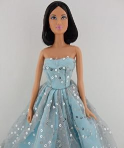 Olivia's Doll Closet A Light Blue Ball Gown with Lots of Sparkle Made to Fit the Barbie Doll O-6082