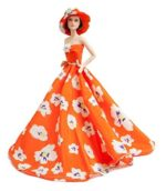 Peregrine-Orange-Floral-Prom-Dresses-with-Hat-for-Barbie-Doll-LYSB00RPC51L4-TOYS