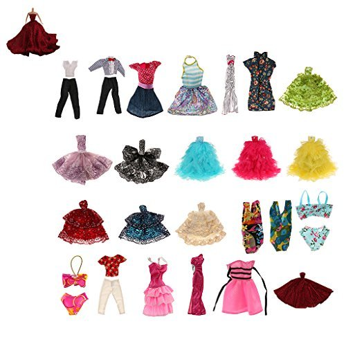 Red-Charm-party-wine-for-soft-16-Barbie-doll-dress-doll-clothes-girl-gift