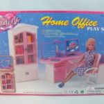 Zfinding-zfinding-Barbie-Size-Dollhouse-Furniture-Home-Office-Computer-Lamp-Printer-24018-parallel-import-goods