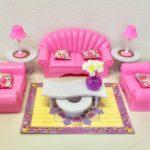 gloria Barbie Size Dollhouse Furniture - Living Room Set