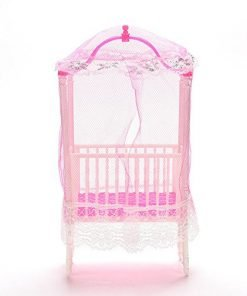 Supershopping 1 Pc Fashion Baby Doll Bed and Crib Bedroom Accessories with Mosquito Net for Barbie Girls