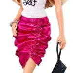 Barbie Fashionistas Barbie Doll, Pink Skirt and Be Yourself Shirt - 1