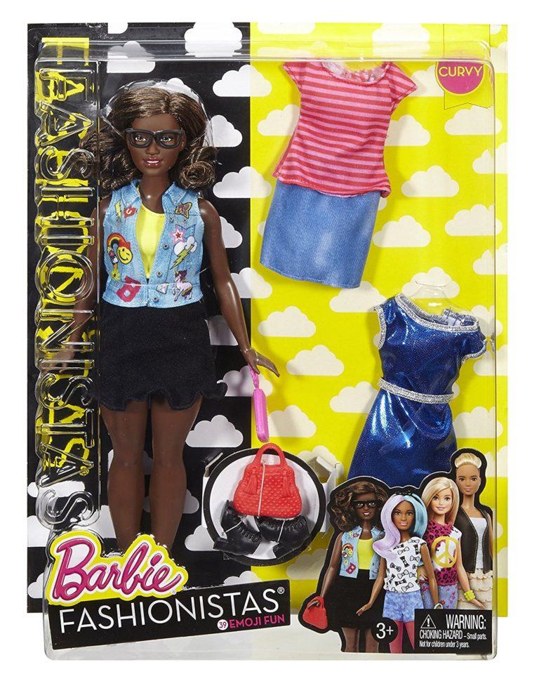 Barbie Fashionistas Doll & Fashions Emoji Fun, Curvy