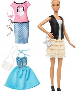 Barbie Fashionistas & Fashions Leather & Ruffles Doll, Tall Blonde