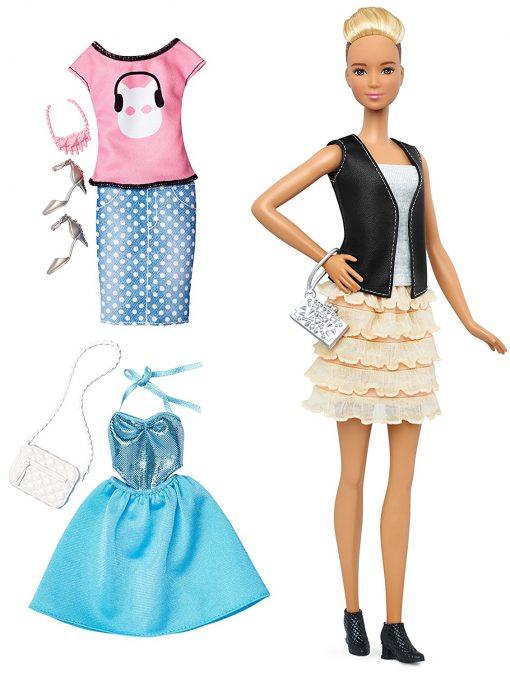 Barbie Fashionistas & Fashions Leather & Ruffles Doll, Tall Blonde