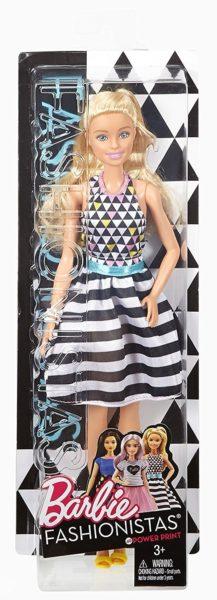 Barbie Girls Fashionistas 46 Black & White Stripes Doll