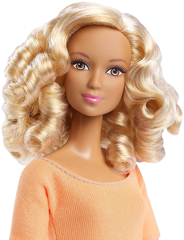 Orange Top With Umbrella Sleeves The Vanca: Barbie Made To Move Doll, Orange Top